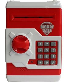 Emob Smart Electronic Money Bank With Locker - Red
