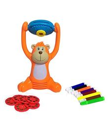 Emob Attractive and durable Light Projector Intellectual Toy Draw With Help Of Projected Image - Orange