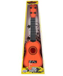 Emob Long Party Play Guitar Orange - Height 40 cm