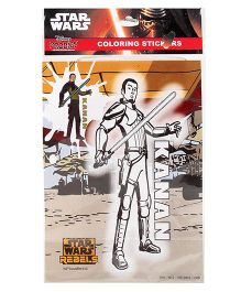 Star Wars Kanan Coloring Sticker - Multi Color