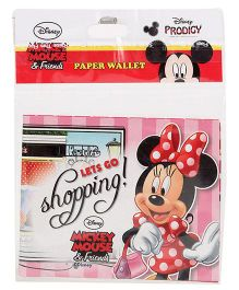 Disney Mickey Mouse And Friends Paper Wallet - Pink