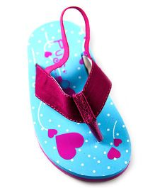 Pugs Flapper Flip Flop For The Shoeoholic With Hearts All Over Print - Pink