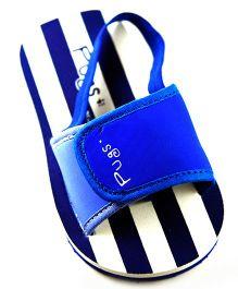 Pugs Flapper Lumi For Little Men With Stripes Print - Blue