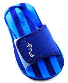 Pugs Flapper Lumi For Little Men With Stripes Print - Dark Blue