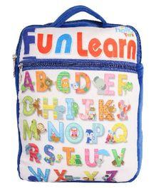 Hello Toys Fun Learn Soft Bag Alphabet Print Blue - 15 Inches