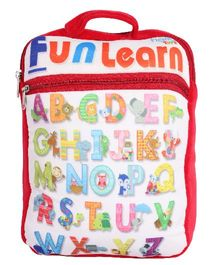 Hello Toys Fun Learn Soft Bag Alphabet Print Red - 15 Inches