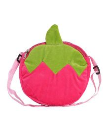 Hello Toys Fruit Shaped Sling Bag Pink - 7 Inches
