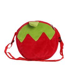 Hello Toys Fruit Shaped Sling Bag Red - 7 Inches