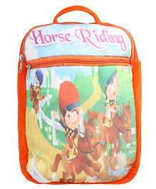 Hello Toys Soft Bag Horse Riding Print Orange - 15 Inches