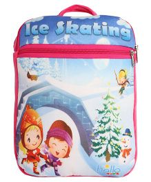 Hello Toys Soft Bag Ice Skating Print Pink - 15 Inches