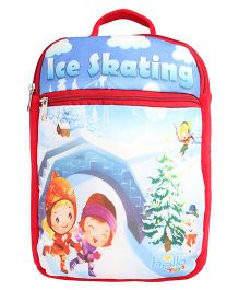 Hello Toys Soft Bag Ice Skating Print Red - 15 Inches