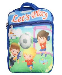 Hello Toys Soft Bag Let's Play Print Blue - 15 Inches