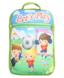 Hello Toys Soft Bag Let's Play Print Green - 15 Inches