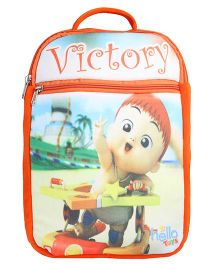 Hello Toys Soft Bag Victory Print Orange - 15 Inches