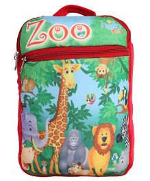 Hello Toys Soft Bag Zoo Print Red - 15 Inches