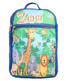 Hello Toys Soft Bag Zoo Print Blue - 15 Inches