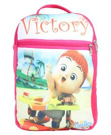Hello Toys Soft Bag Victory Print Pink - 15 Inches