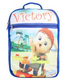 Hello Toys Soft Bag Victory Print Blue - 15 Inches
