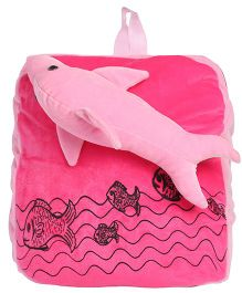 Hello Toys Soft Bag With Dolphine Soft Toy Pink - 14 Inches