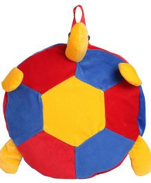 Hello Toys Plush Soft Backpack Turtle Shape Blue Red Yellow - 14 Inches