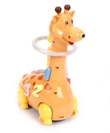 Playmate Funny Giraffe Musical Toy - Orange