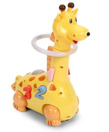 Playmate Funny Giraffe Musical Toy - Yellow