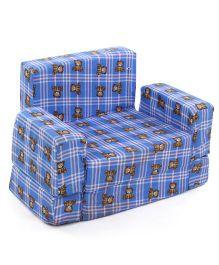 Lovely Sofa Cum Bed Teddy Print - Blue