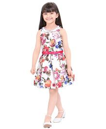 Tiny Baby Box Pleated Dress With Belt - Pink