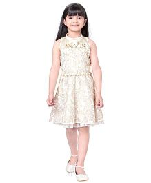 Tiny Baby Dress With Belt - Cream