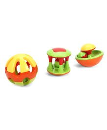 Baby Toy Series Ball Rattle Set Multicolor - Pack Of 3