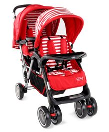 Babyhug Twinster Stroller - Red