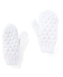Pumpkin Patch Gloves - White