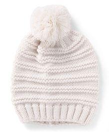 Pumpkin Patch Winter Cap - White