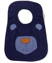 Pumpkin Patch Bib Bear Print - Blue