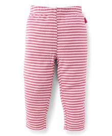 Pumpkin Patch Leggings Stripes Print - Pink White