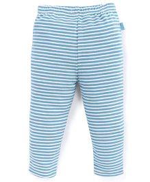 Pumpkin Patch Leggings Stripes Print - White Blue