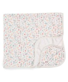 Pumpkin Patch Blanket Multi Print - White
