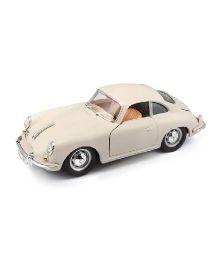 Bburago Die Cast Porsche 356B Coupe 1961 Car - Cream