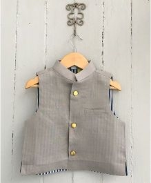 Frangipani Kids Jacket With Front Button - Grey