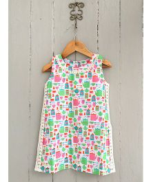 Frangipani Kids English Tea Print Dress - Multicolour