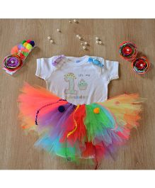 TU Ti TU Yummy Candyland First Birthday Outfit - Multicolour
