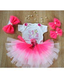 TU Ti TU Cupcake Queen Half Birthday Outfit - Neon Pink