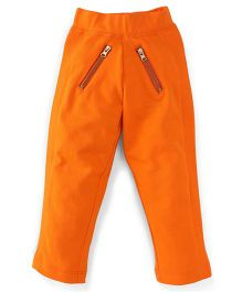 Button Noses Full Length Jeggings With Ealasticated Waist - Orange