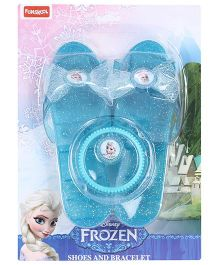 Funskool Disney Frozen Shoes And Bracelet - Blue