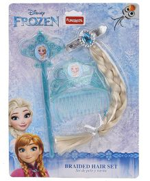Disney Frozen Funskool Braided Hair Set Blue - 3 Pieces