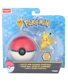 Pokemon Funskool Lights N Sounds Poke Ball - Red And Yellow
