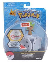 Pokemon Funskool Throw N Pop Poke Ball Assortment - White And Yellow