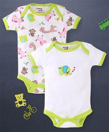 Kidi Wav 2 Piece Body Suits - Lemon Green