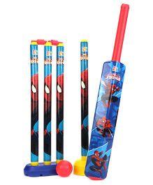 Marvel Spider Man 4 Wicket Cricket Set - Blue