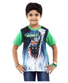 Marvel Half Sleeves T-Shirt Avengers Thor Print - Green